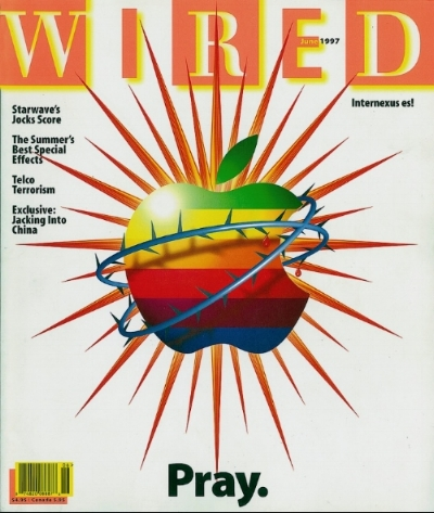 The cover of Wired magazine, 1997.