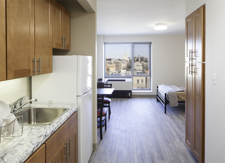 All of 162nd's 86 studio units come fully furnished.