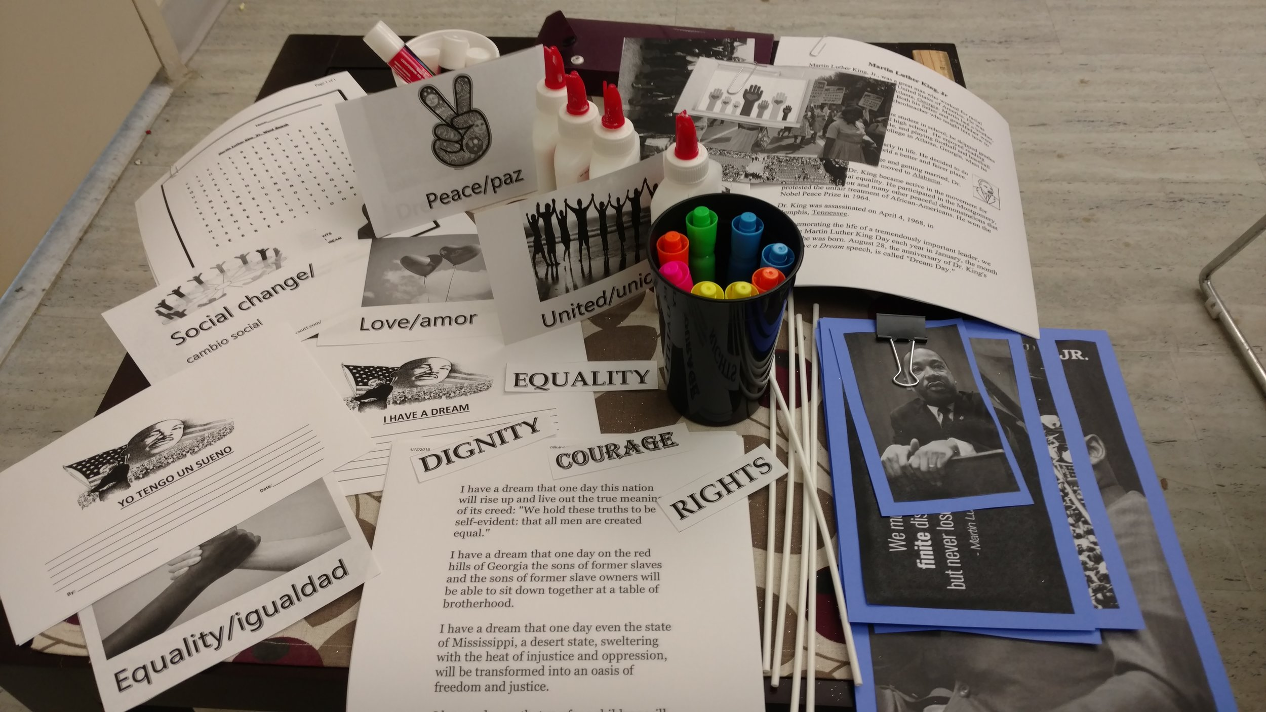 Dr. Martin Luther King Jr. Arts and Crafts at our residence at 162nd street in the Bronx