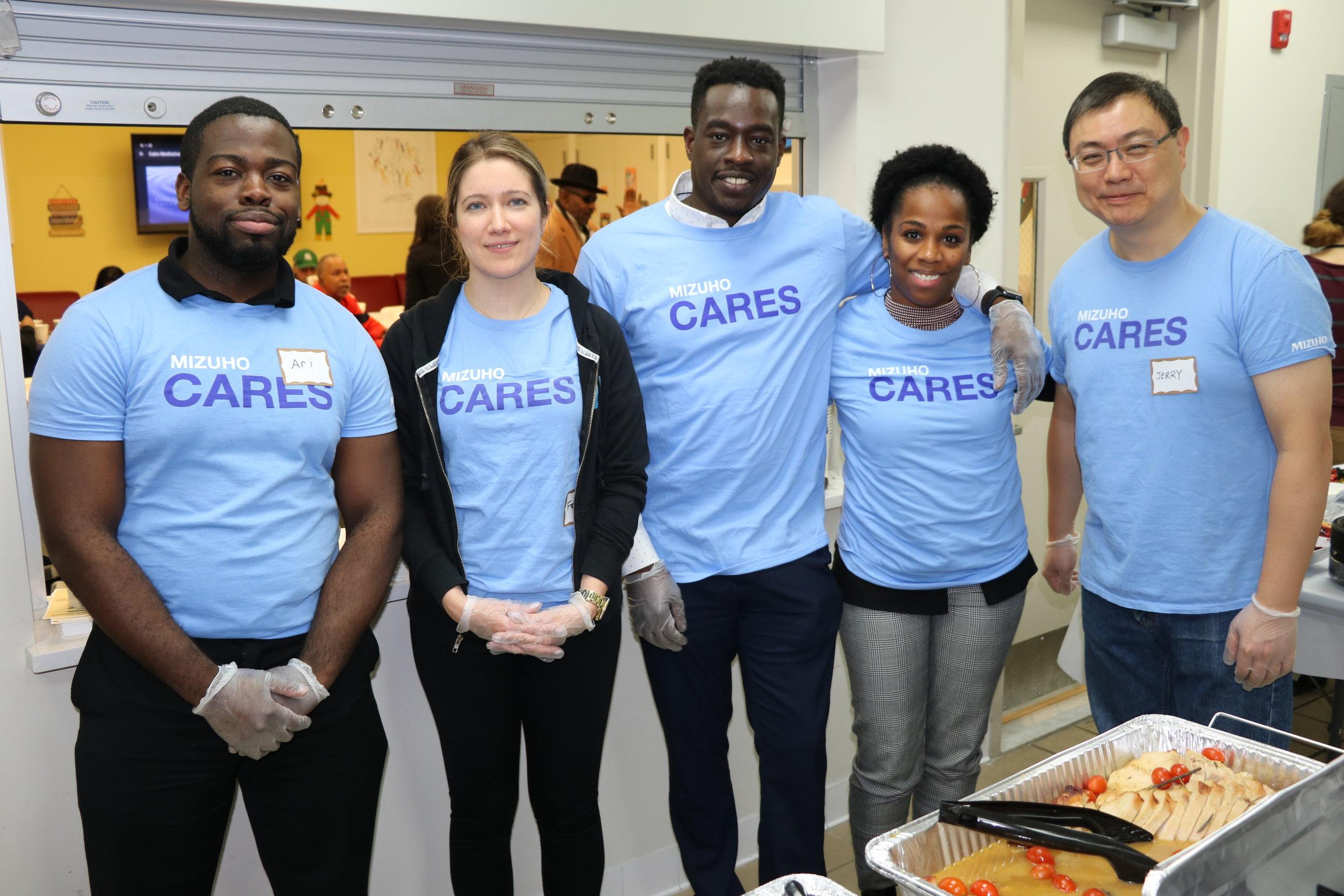 Mizuho Americas volunteer team at Urban Pathways' 162nd Street Apartments