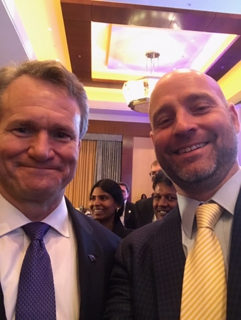 Keith is pictured with Bank of America Merrill Lynch CEO Brian T. Moynihan