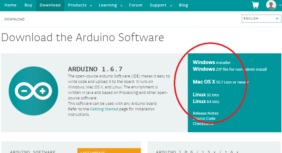 Download and install Arduino