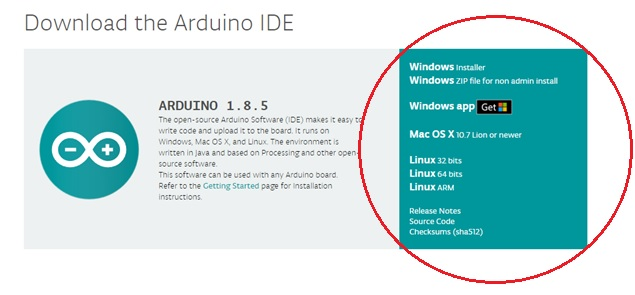 Downloading the Arduino software