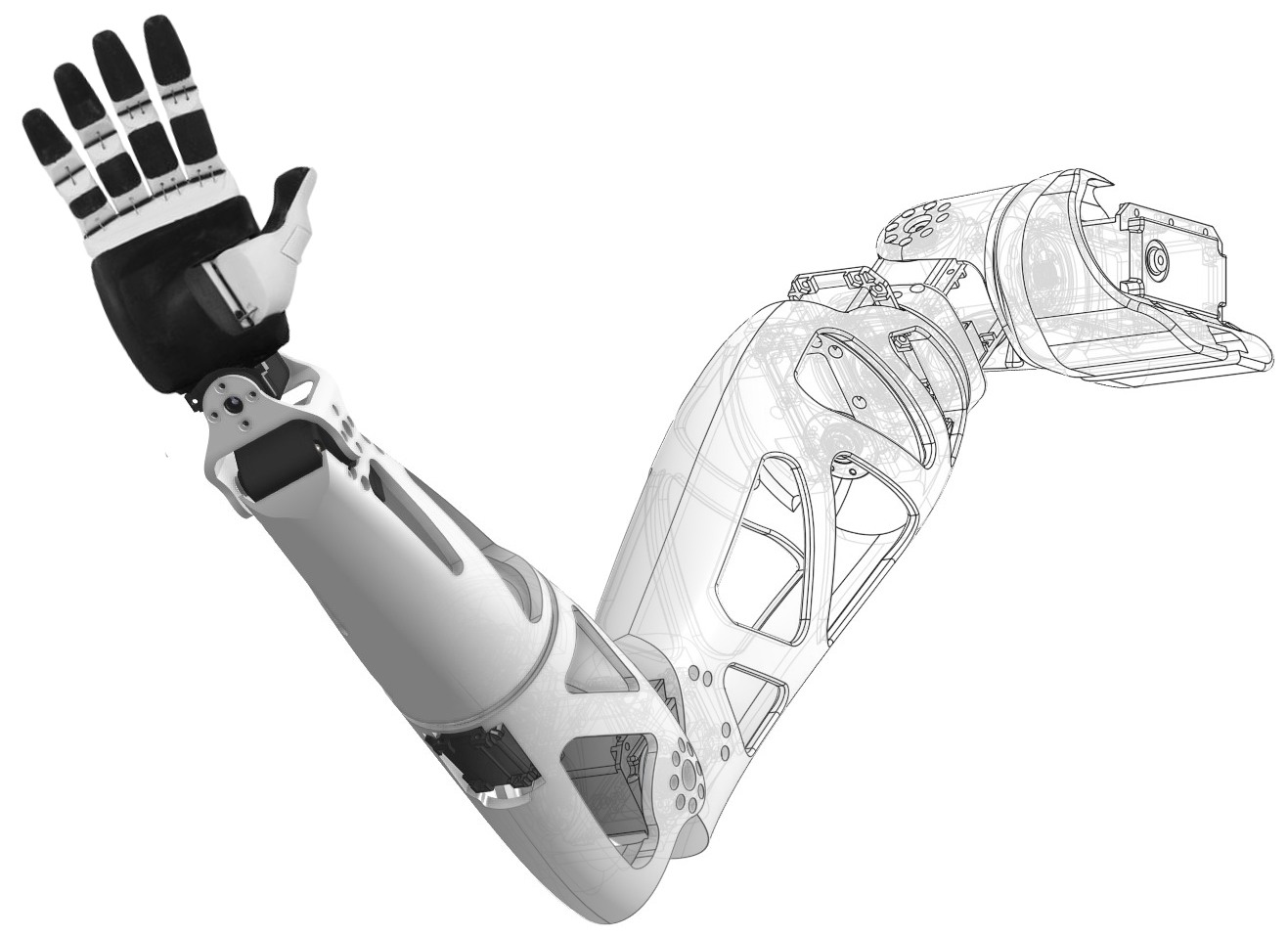 Enter the labs - Welcome to Open Bionics Labs. We're a robotics company known globally for developing the next generation of prosthetics for amputees, which you can find out about on www.openbionics.com. Open Bionics Labs is a space to share our latest cutting edge research and development.