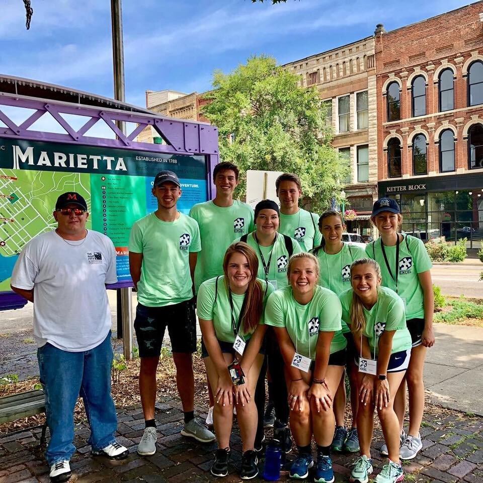 Marietta College volunteers and Main Street West leader Jackson Patterson host a Clean Up Day in Harmar.
