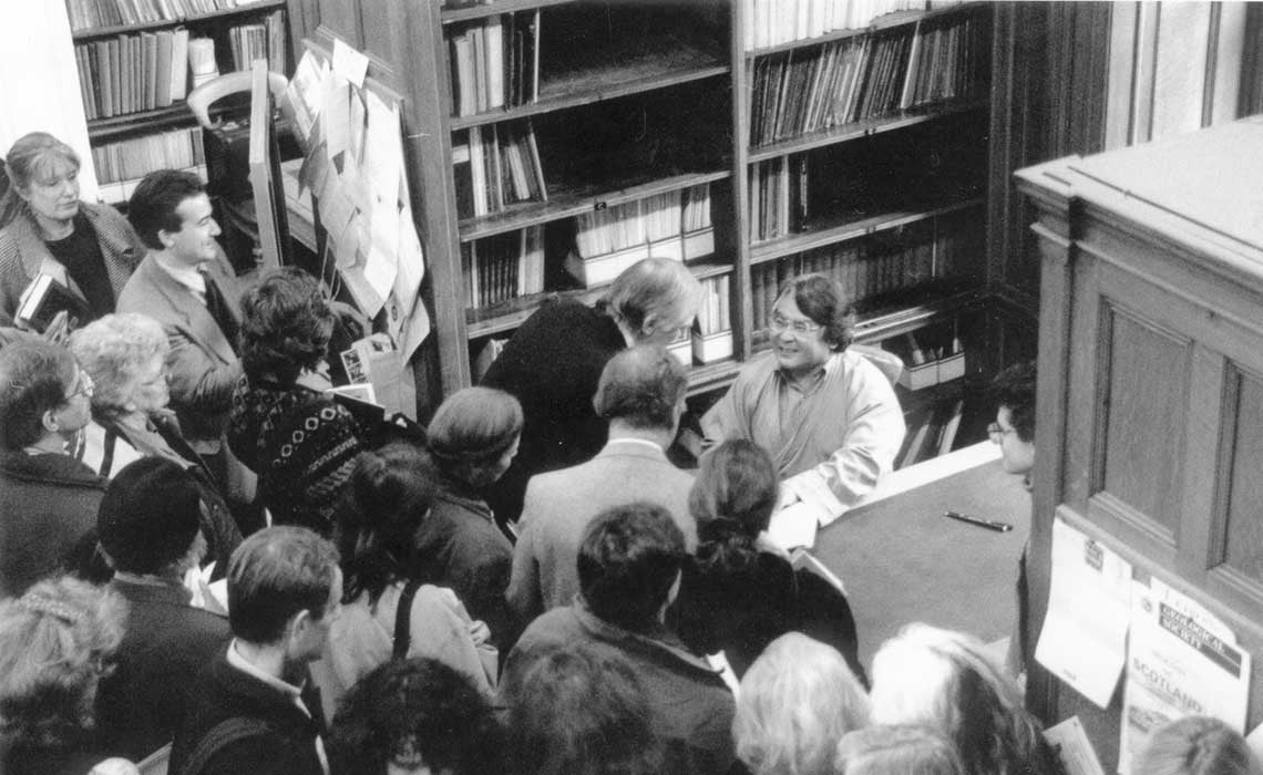 Sogyal Rinpoche at a book signing in London, early 90's