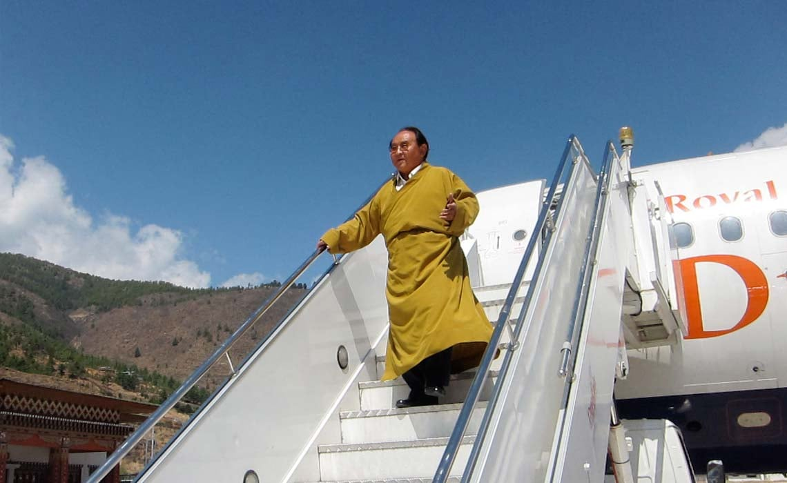 Landing at Paro airport, Bhutan