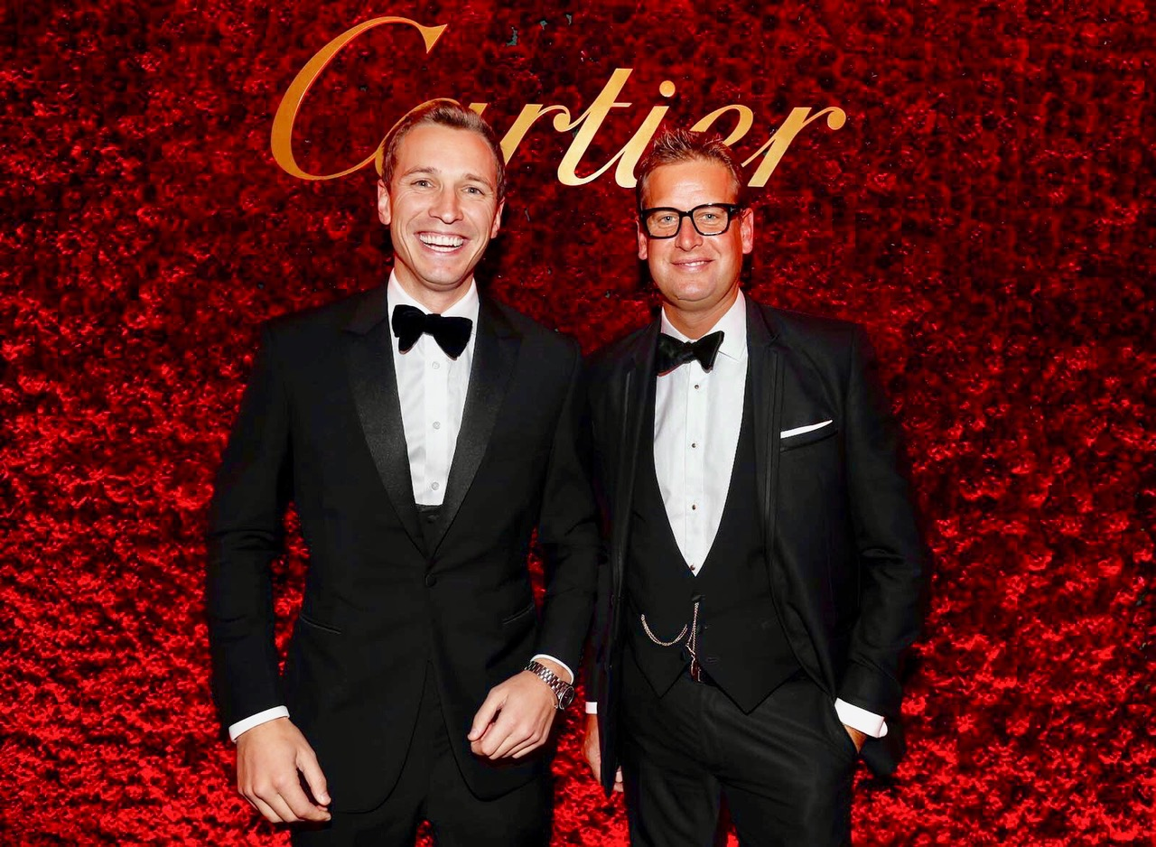 Oli Bell and Ed Chamberlin at the Cartier Awards