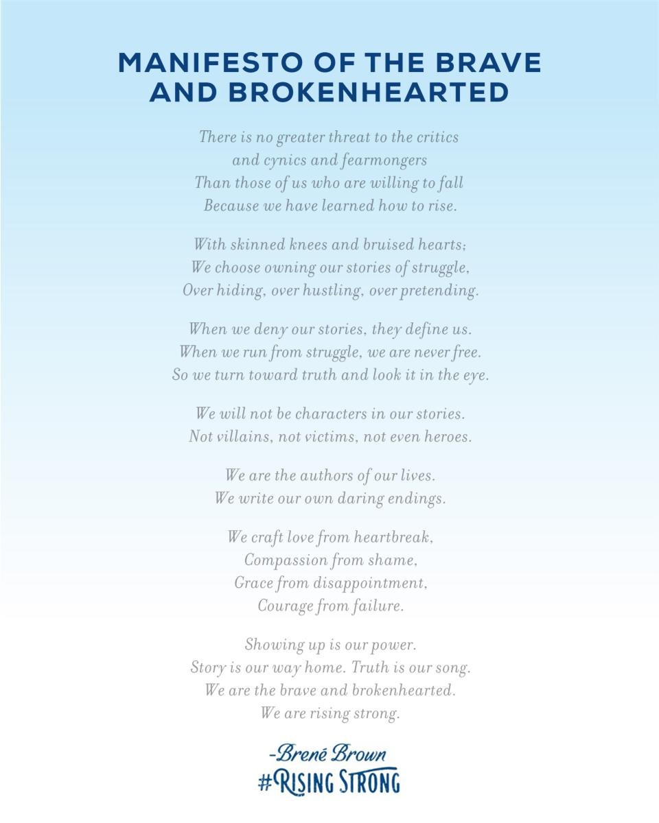 Brene Brown Manifesto