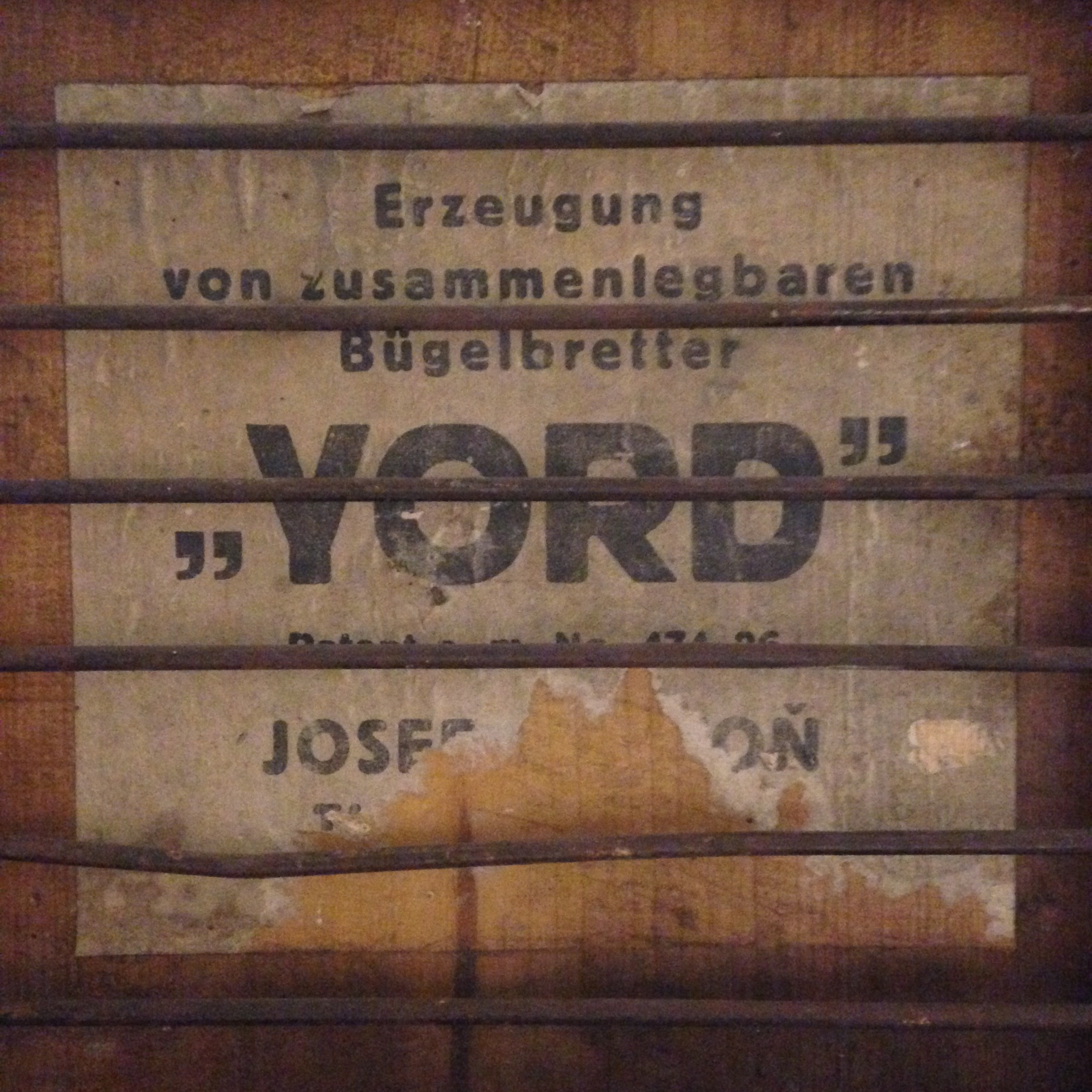Beautiful old typography from when I explored the White Stuff storage rooms!