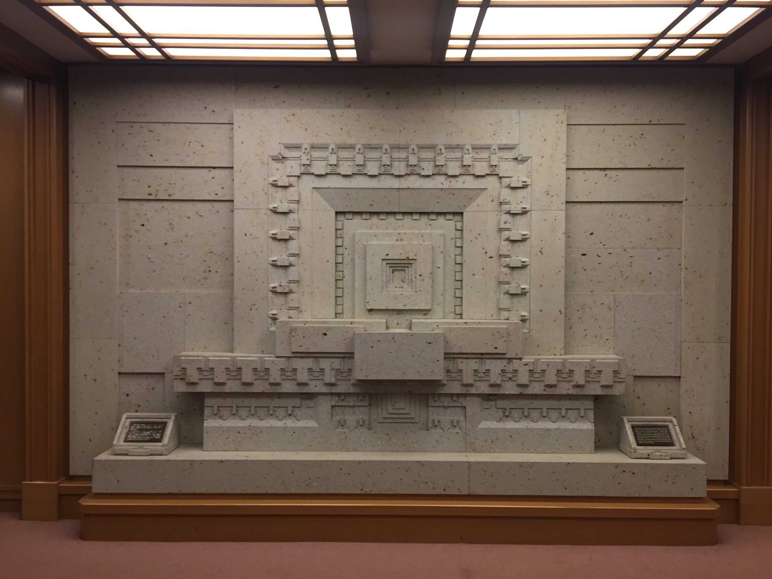 Imperial Hotel (section from the original building designed by Frank Lloyd Wright)