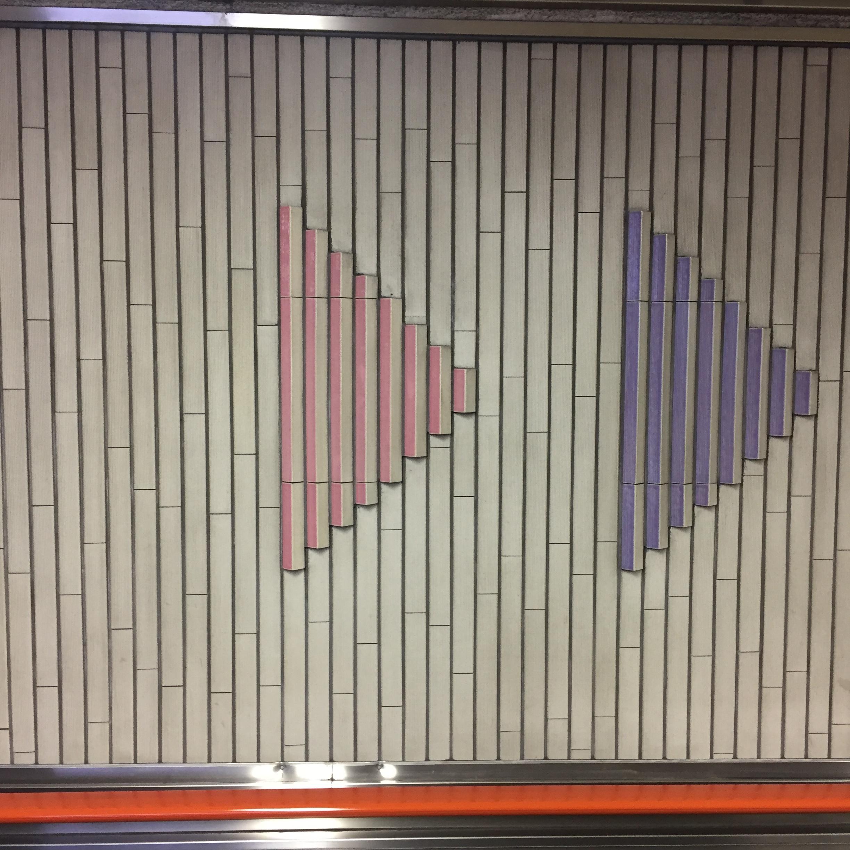Subway station walls