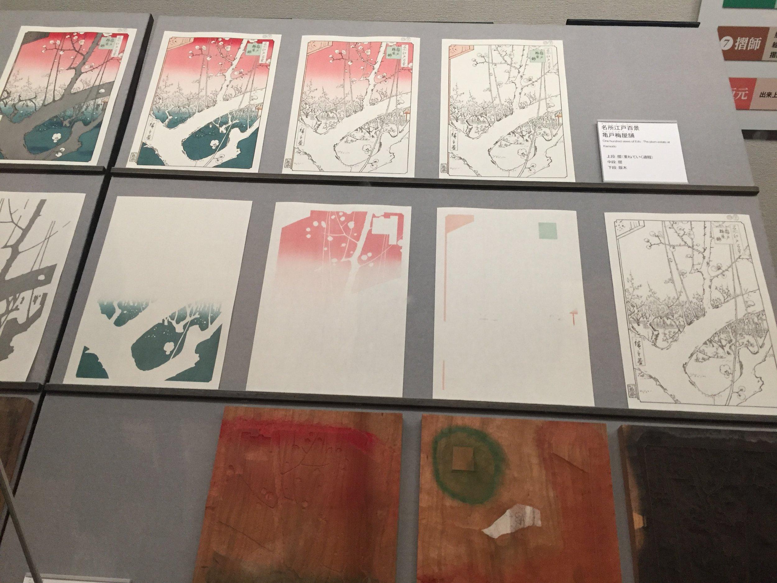 Wood block printing proccess - Edo Museum, Tokyo