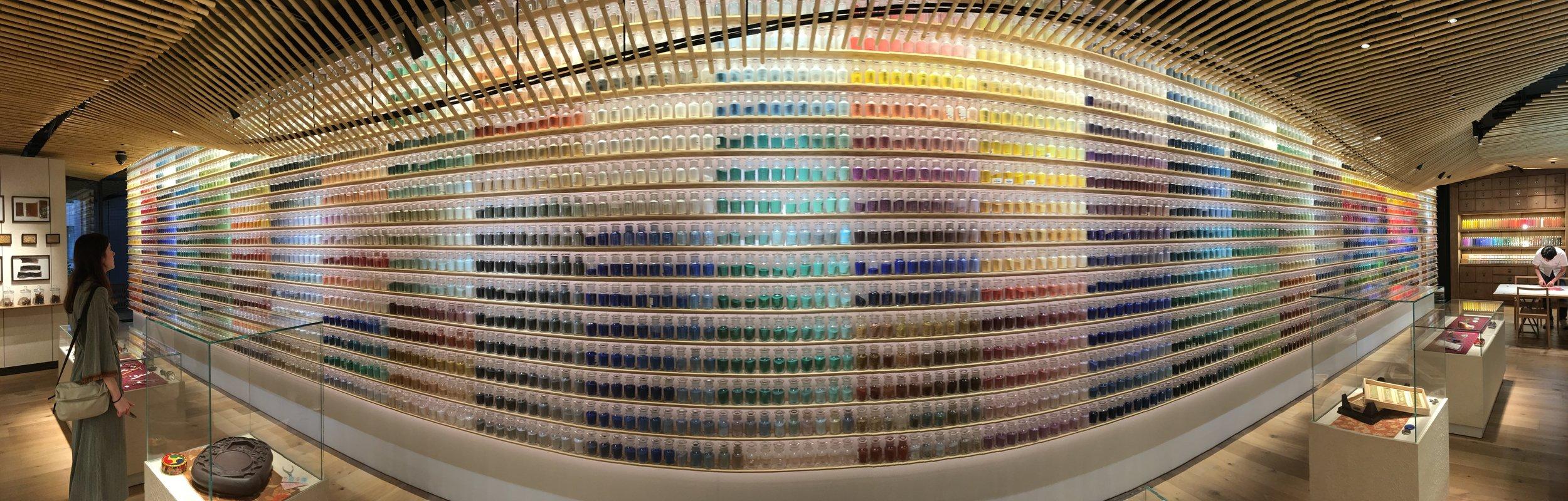 The beautiful Pigment Art Shop, Tokyo