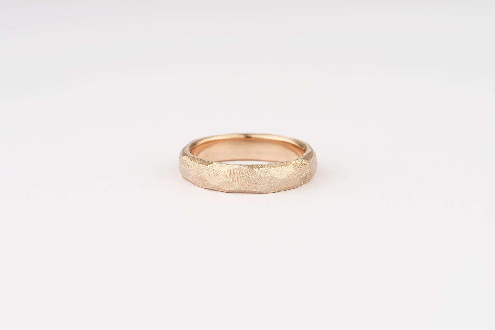 9ct rose gold wedding band