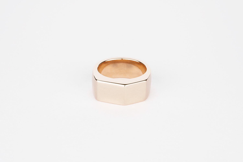 9ct rose gold chunky wedding ring