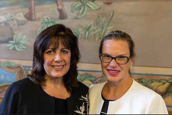 Brooklyn Women's Bar Association does lunch with Manhattan Administrative Justice Deborah A. Kaplan. -