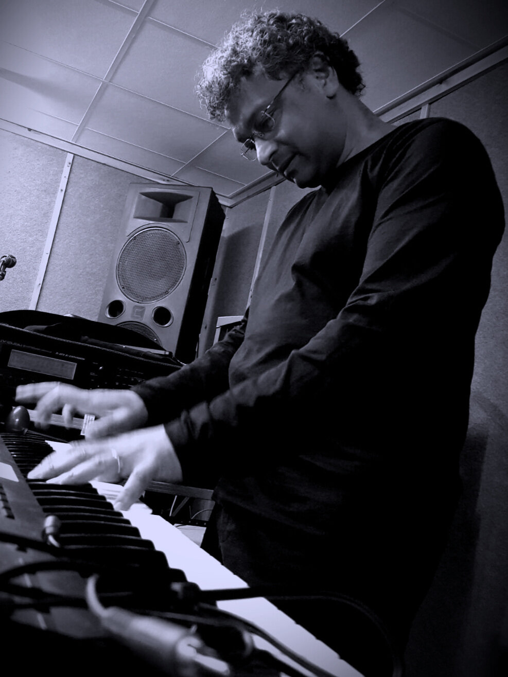 Roy Naidoo - Roy's main role is playing keyboards in a2RK, but he also undertakes production and design duties under the nom de plume 'otiabStudio' .Roy's musical influences are: Yes, Genesis, Pink Floyd, Spock's Beard, Flower Kings, Porcupine Tree, It Bites.Inspirational artists include Rick Wakeman, Tony Banks, Richard Wright and Jon Lord (all keyboard players, naturally..)Roy plays the following: Moog Voyager Old School, Korg CX-3, dsi Prophet 12, dsi Prophet '08, StudioLogic Sledge Black, Roland JV-2080, mfb Dominion 1.