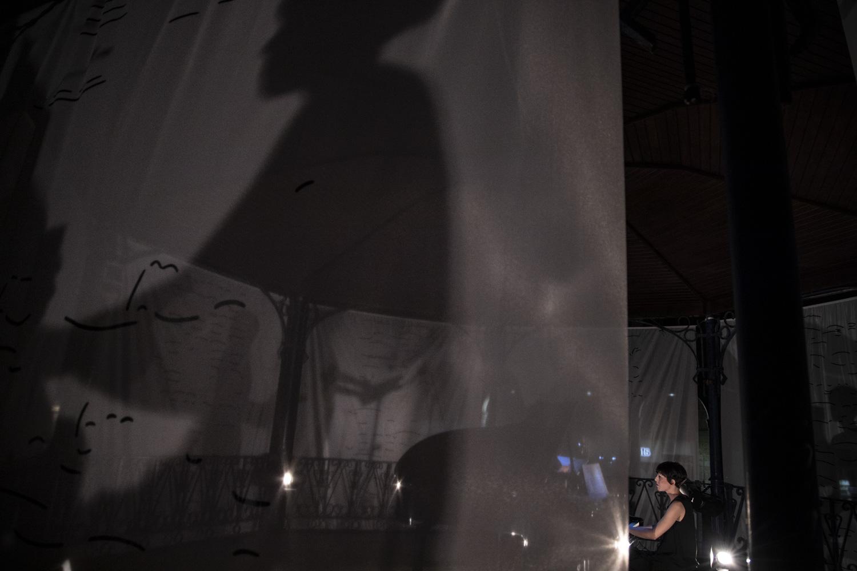 Detalle de la instalación sonora  Foto: Josu Zaldibar