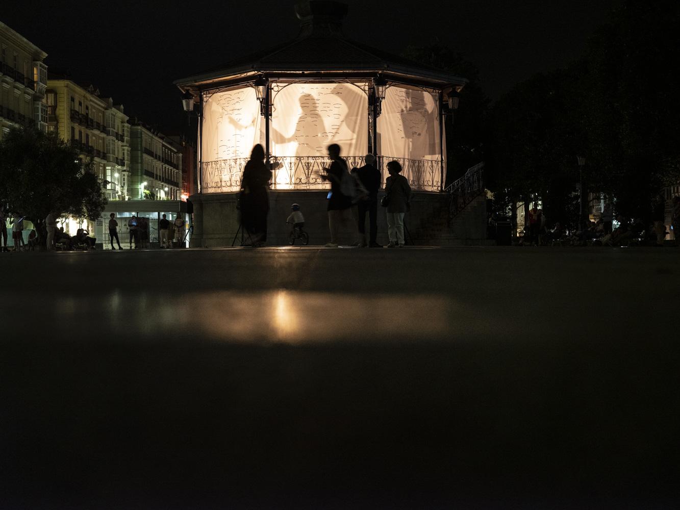 Vista general de la instalación sonora  Foto: Josu Zaldibar