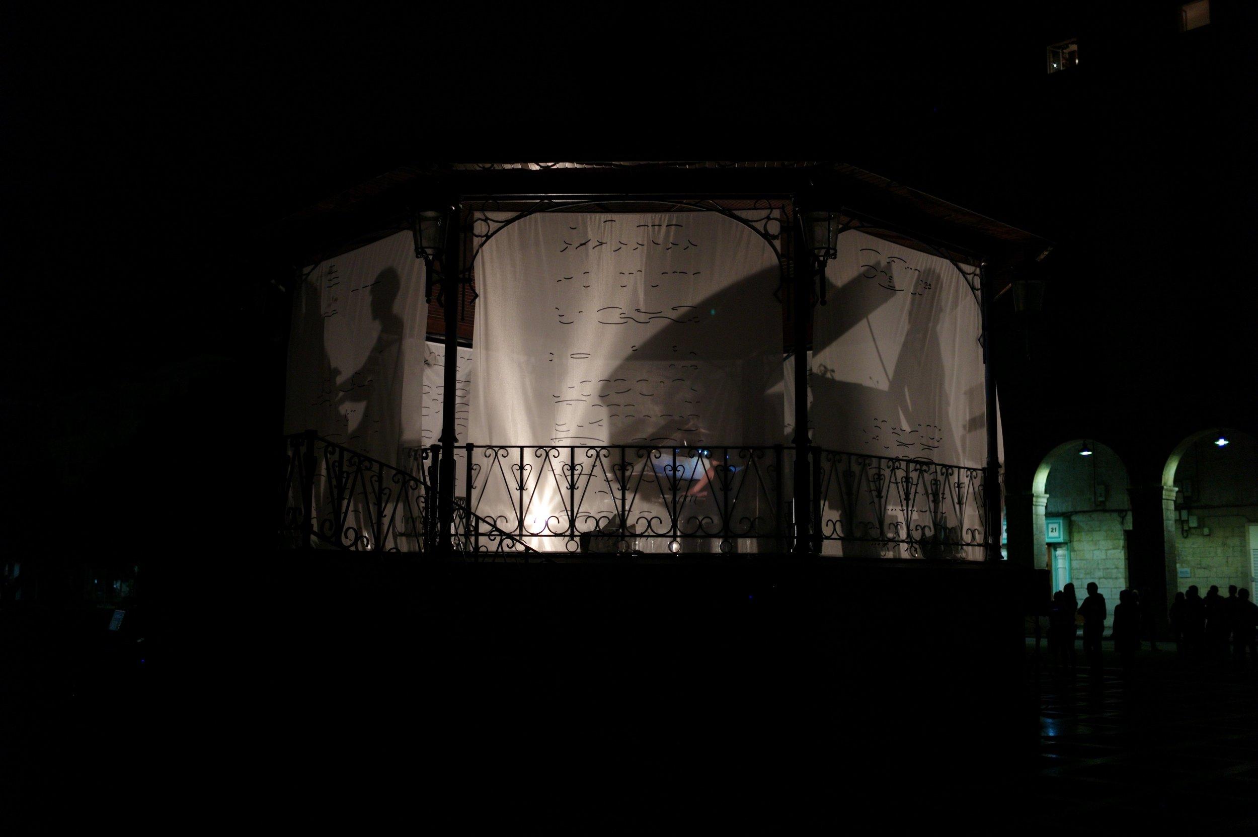 Vista general de la instalación sonora  Foto: Ulfe Piñón