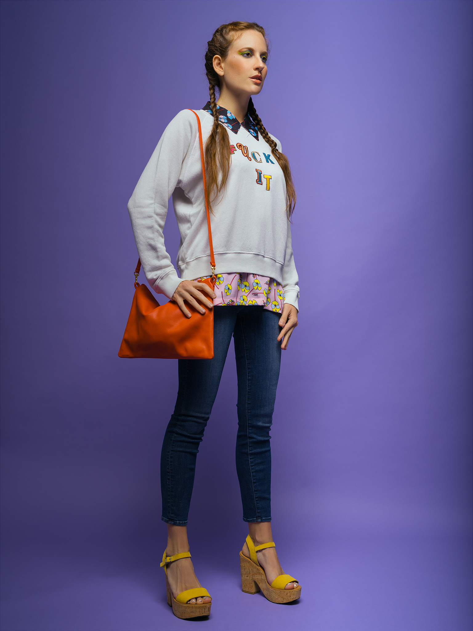 Model: Rossi Saenz  Clothing & Bag: Bird Boutique   Wedges: Southern Hippie