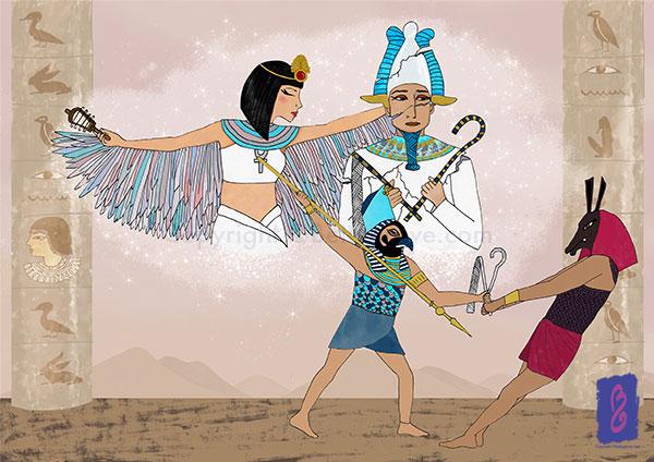 Isis, Osiris, Horus and Seth