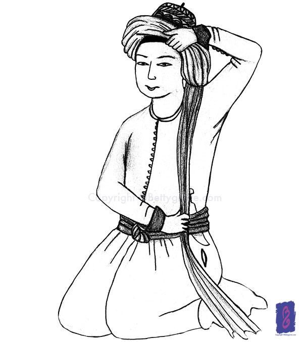Persian boy - Initial sketch