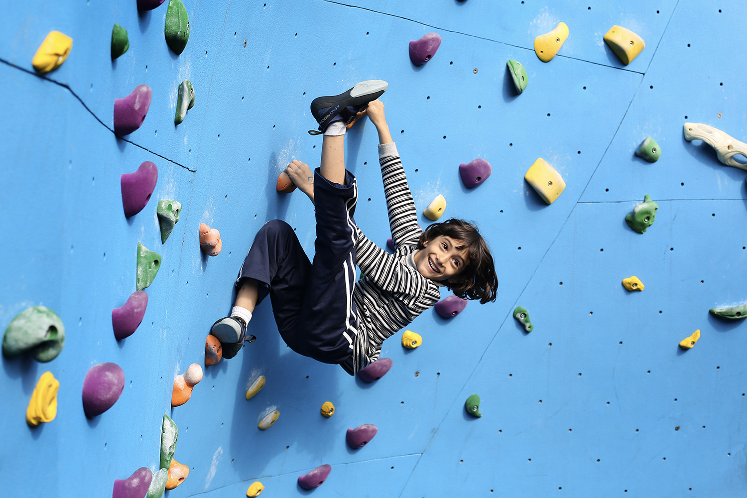 Youth - We welcome climbers ages 6 and up. Youth ages 14 and under must be accompanied by an adult to supervise and spot. No more than 2 kids per adult.