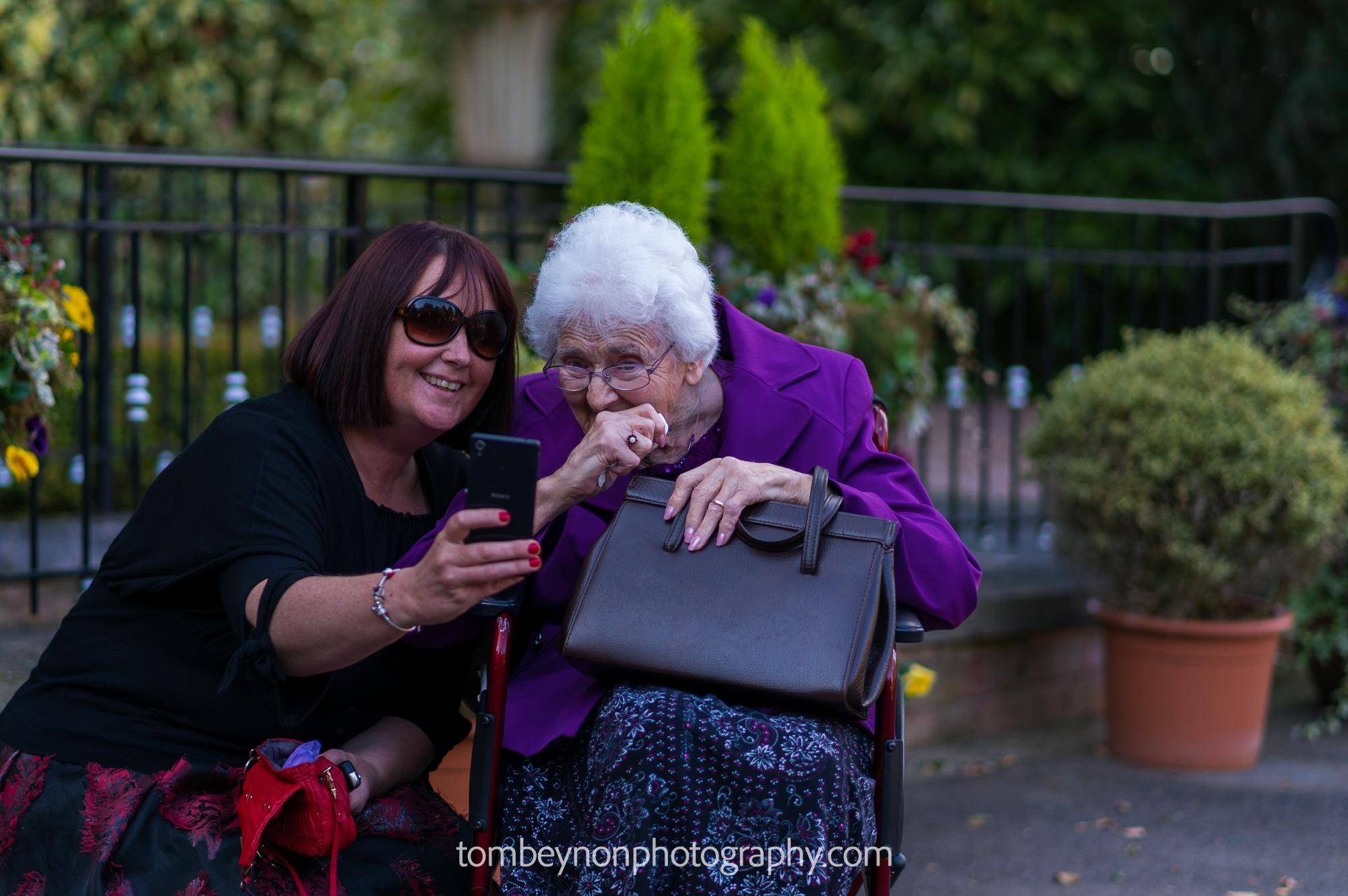 Pre-Wedding selfie with grandma