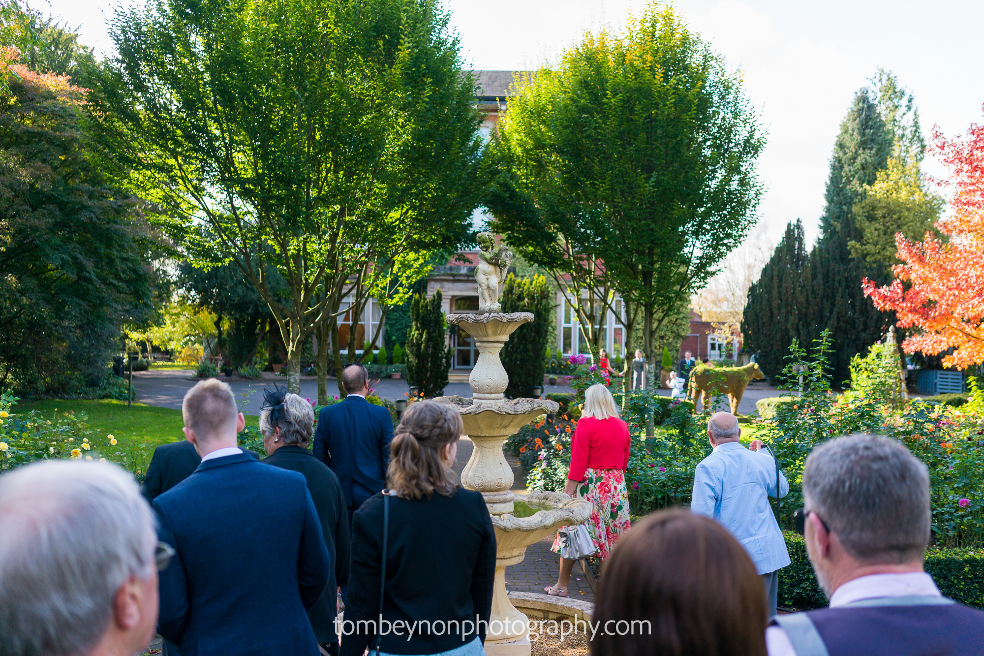 Guests arrive at Rodbaston Hall