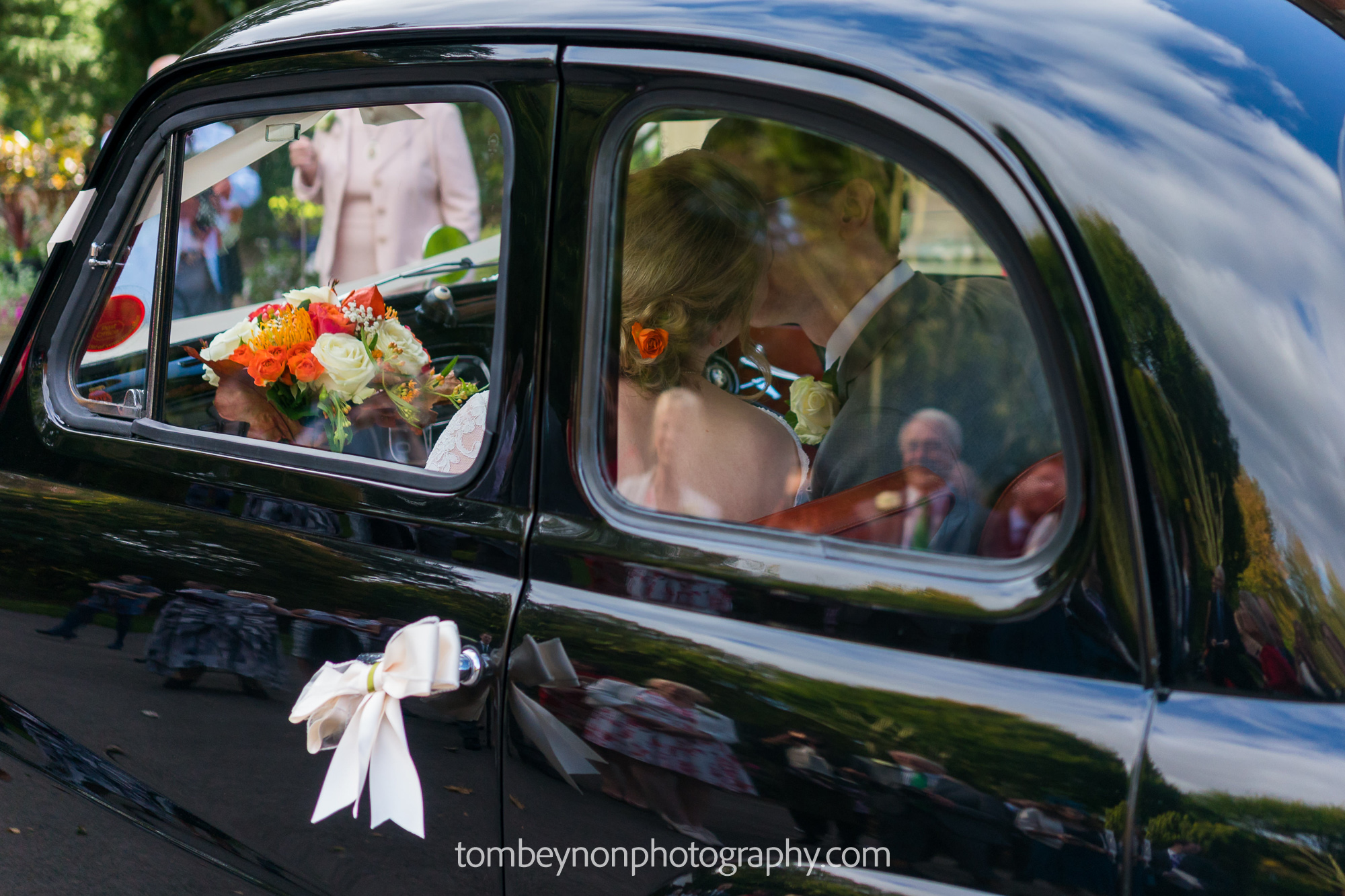 Bride and Groom get ready to greet their guests