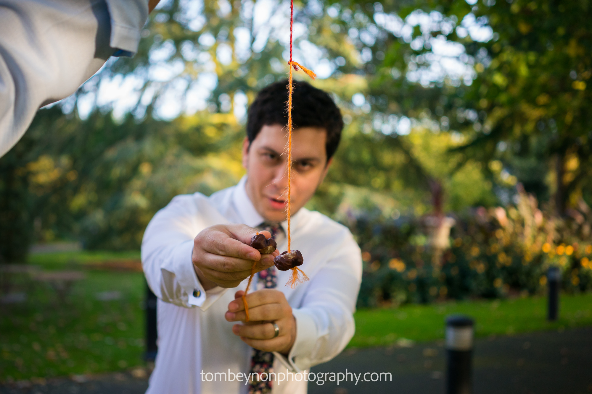 Guests play conkers