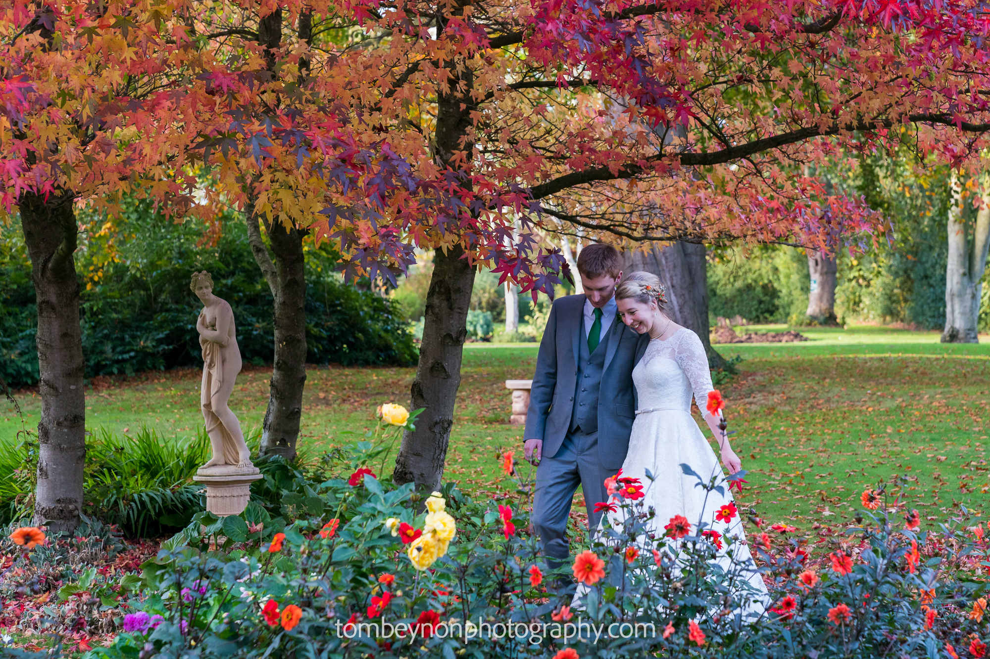 Wonderful autumn colours in the grounds of Rodbaston Hall