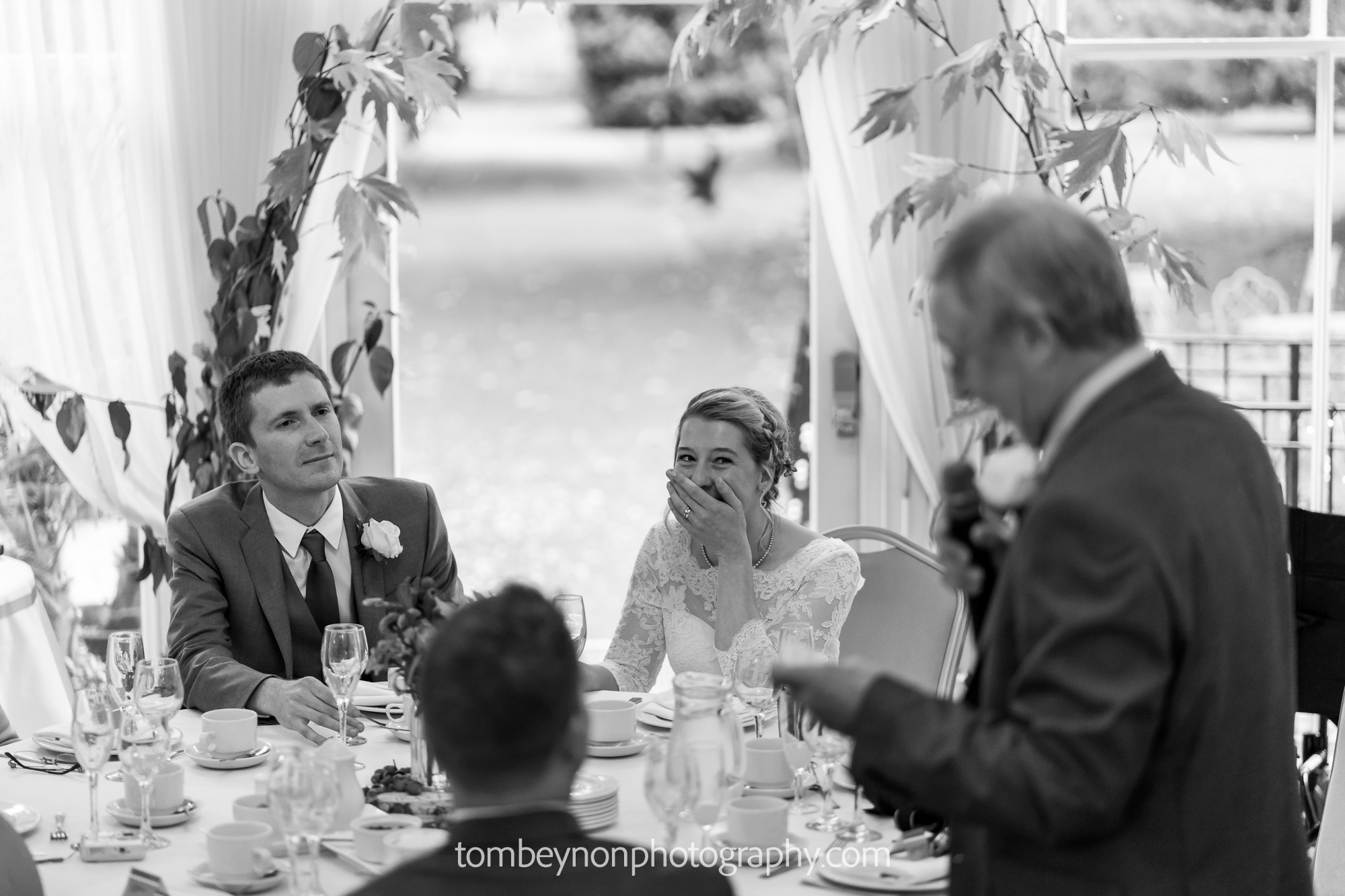Bride shocked during father-of-the-bride speech