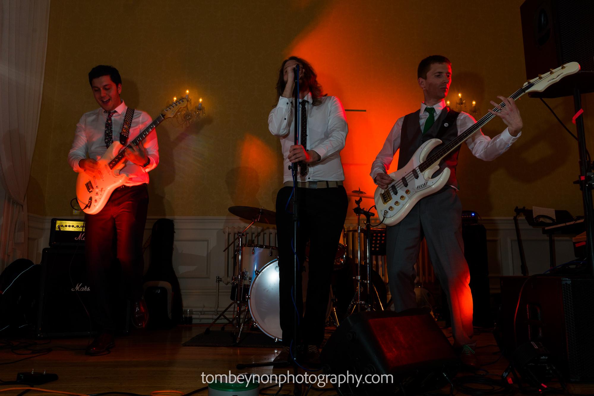 Groom's band play as set