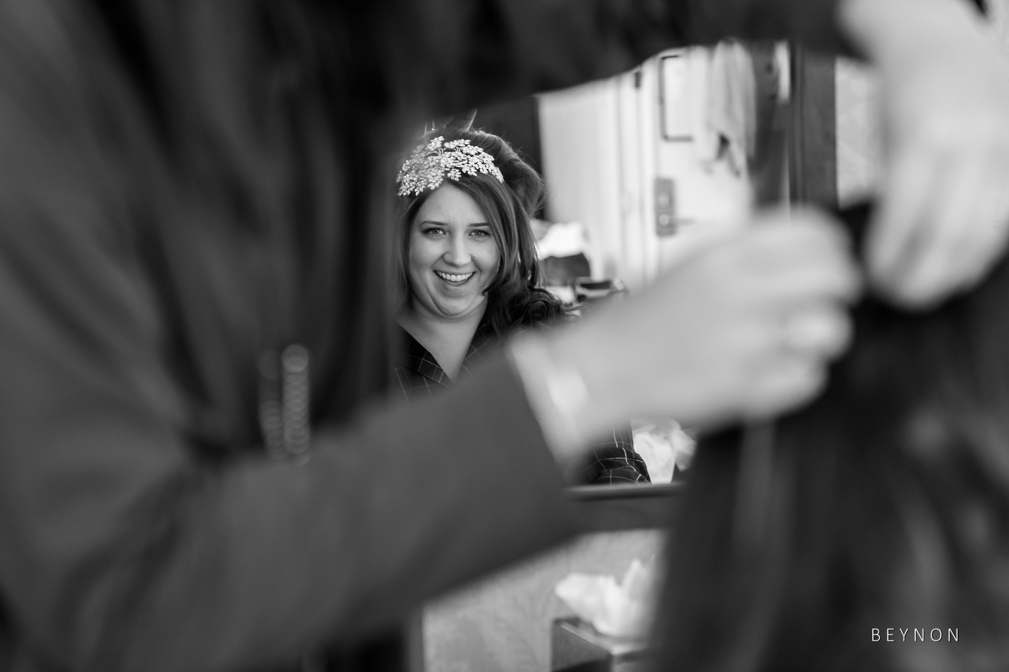 Bride is all smiles