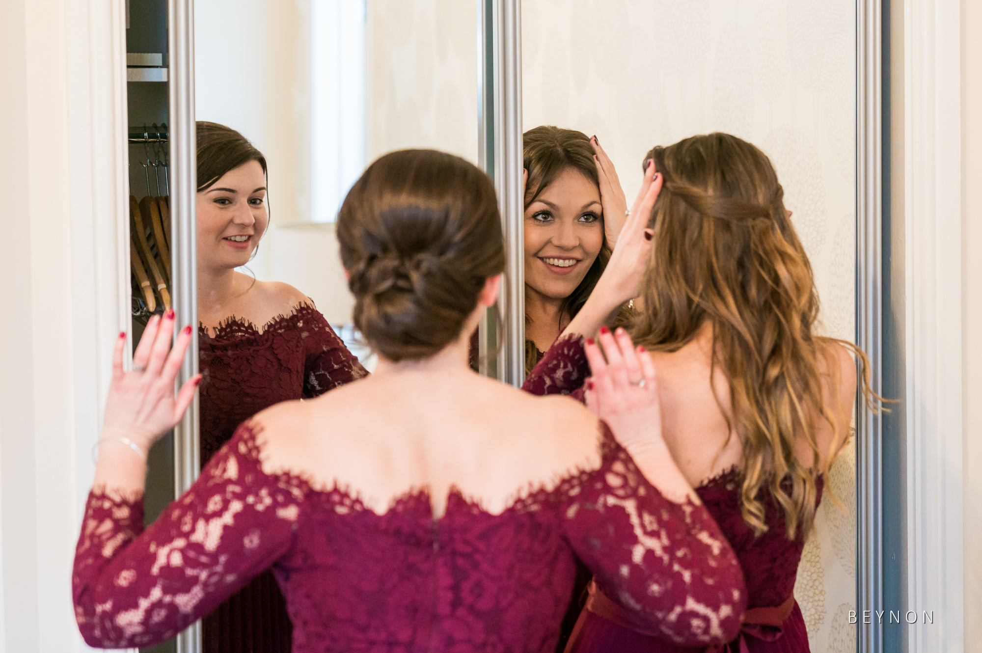 The Bridesmaids sort their hair out