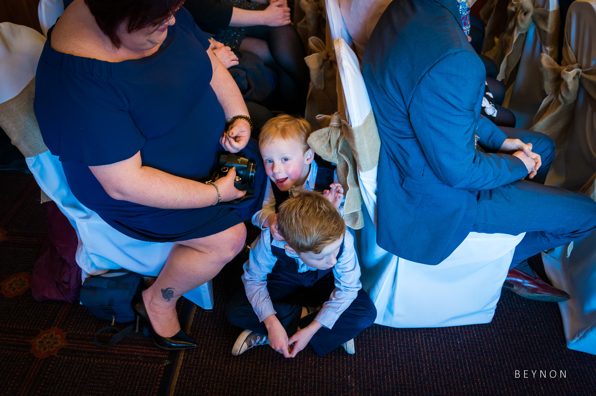 Children sitting on the floor