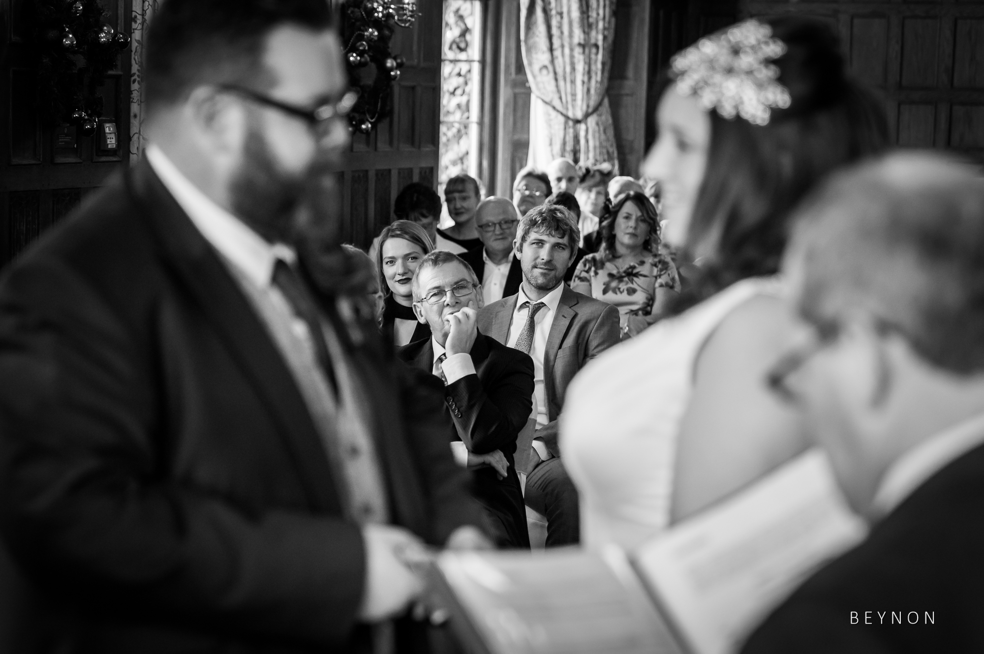 Black and White image of the guests