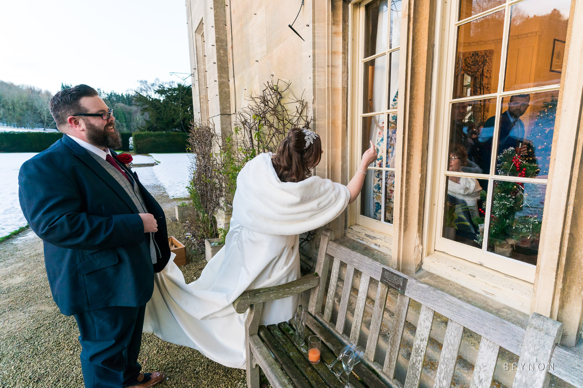 The Bride knocks to get back in