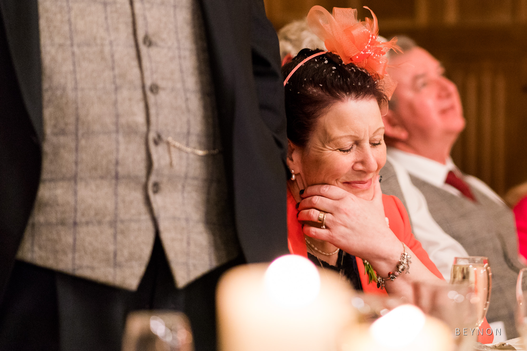 The mother of the groom during the speeches