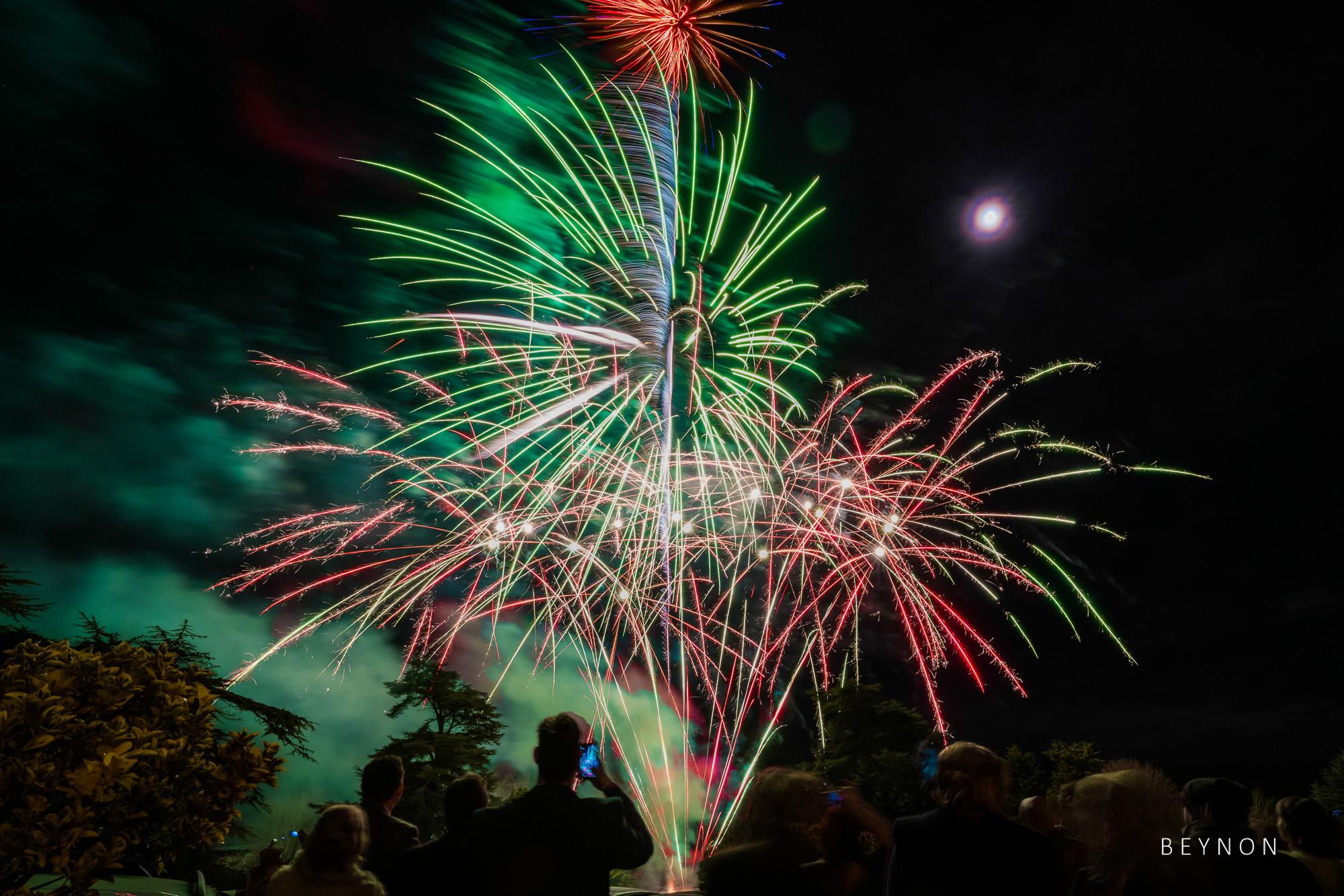 Fireworks at Dumbleton Hall