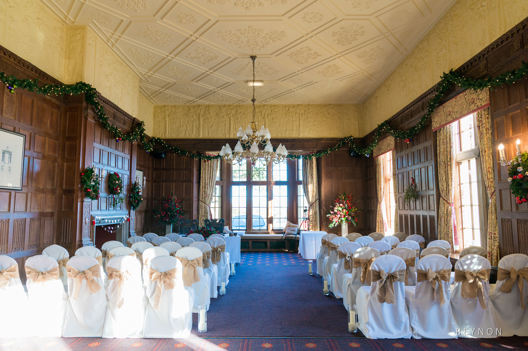 Dumbleton Hall ready for the ceremony