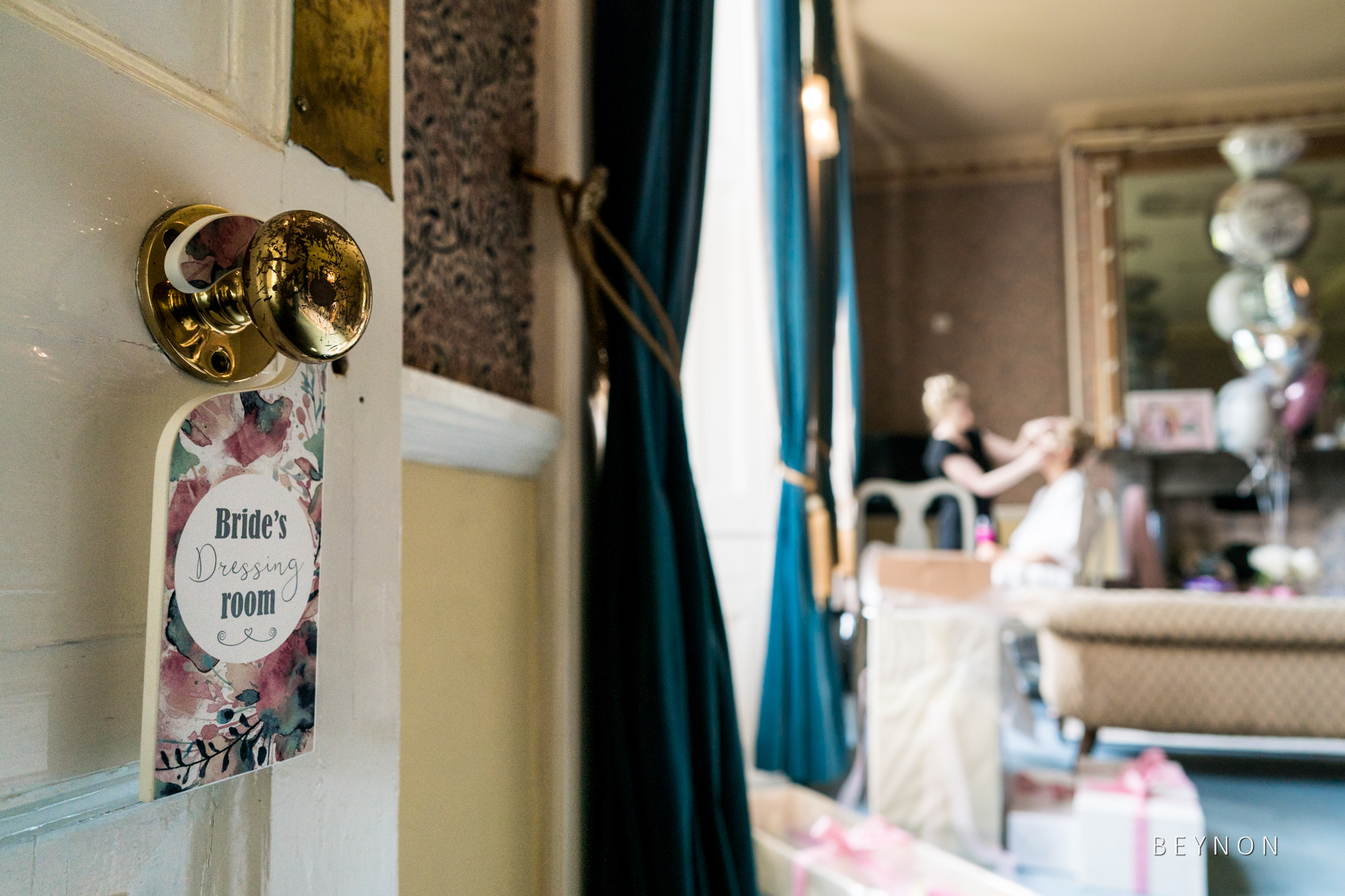 The bride prep room