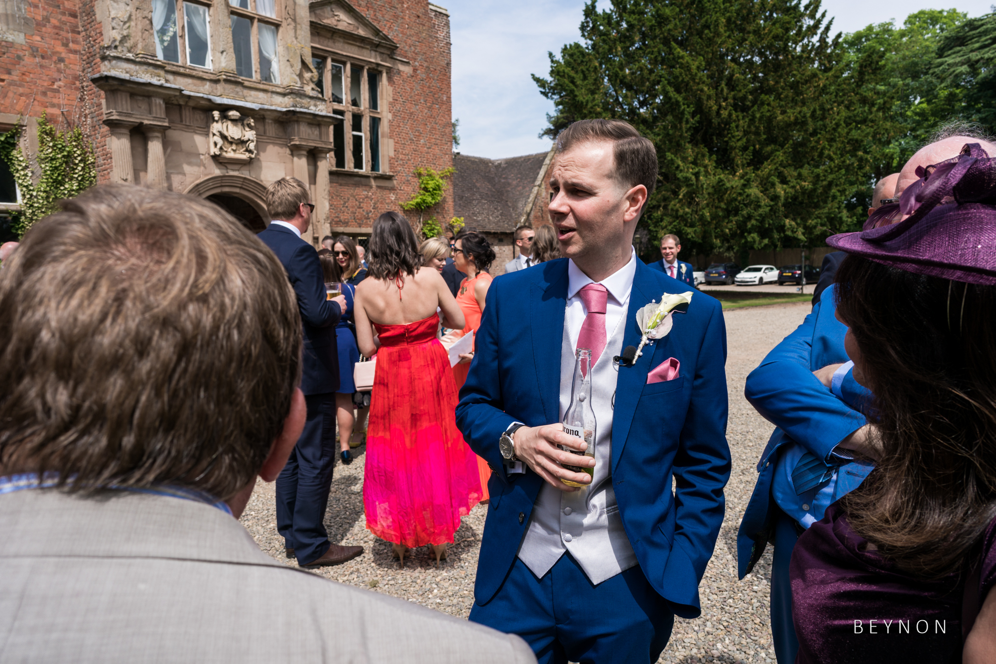 The Groom relaxes with guests