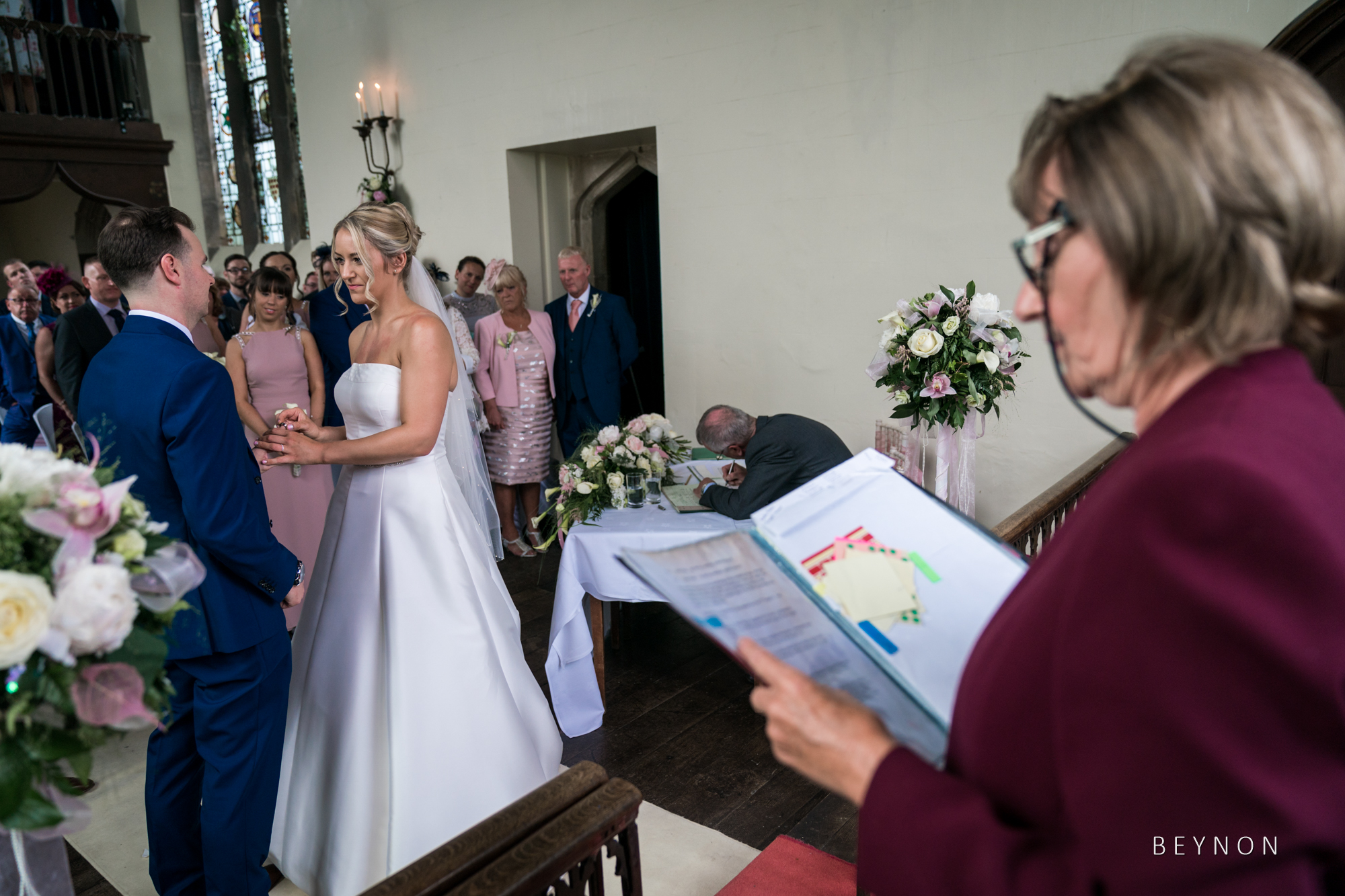 The celebrant reads out loud