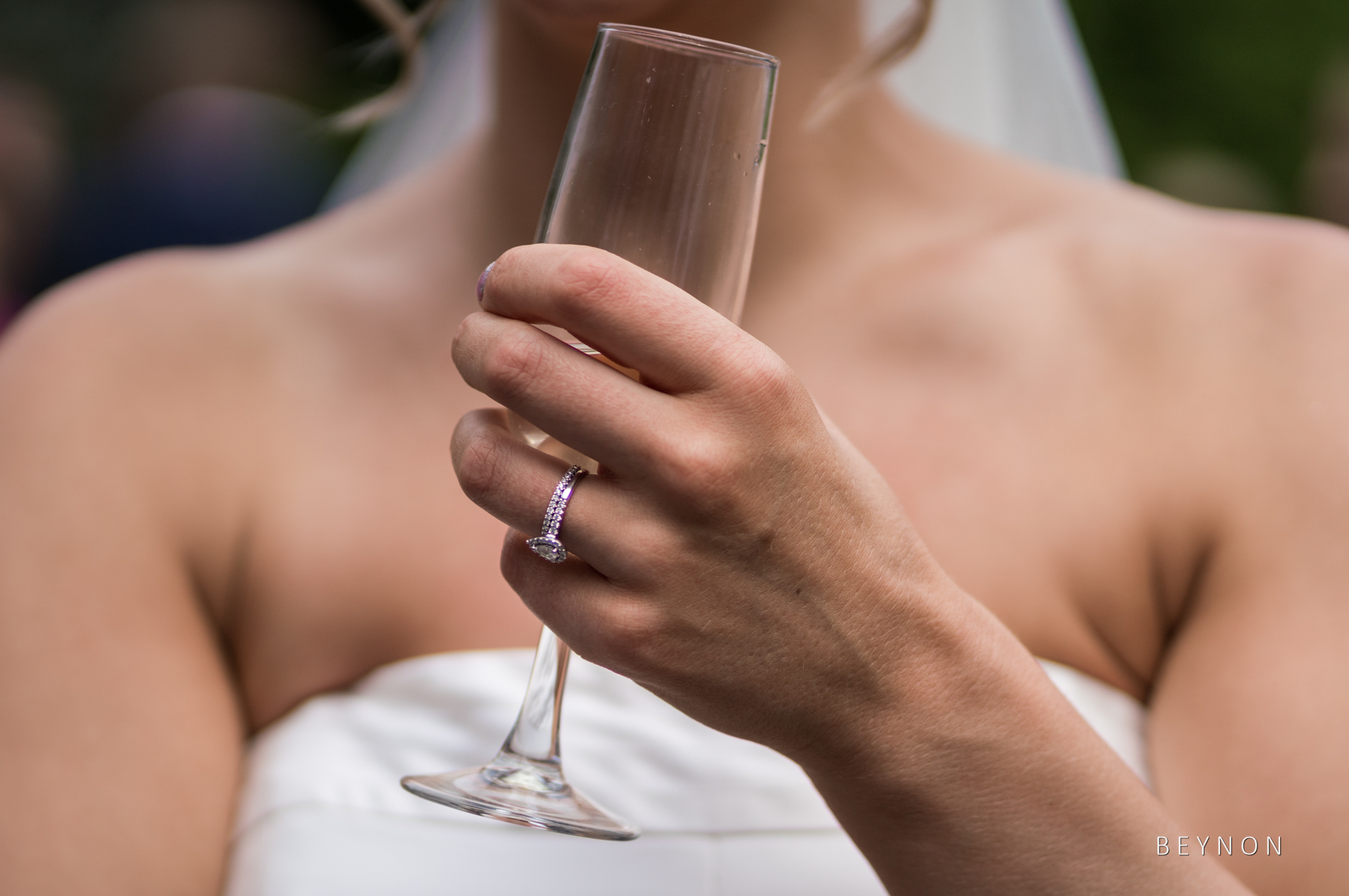 close up photograph of the bride's ring