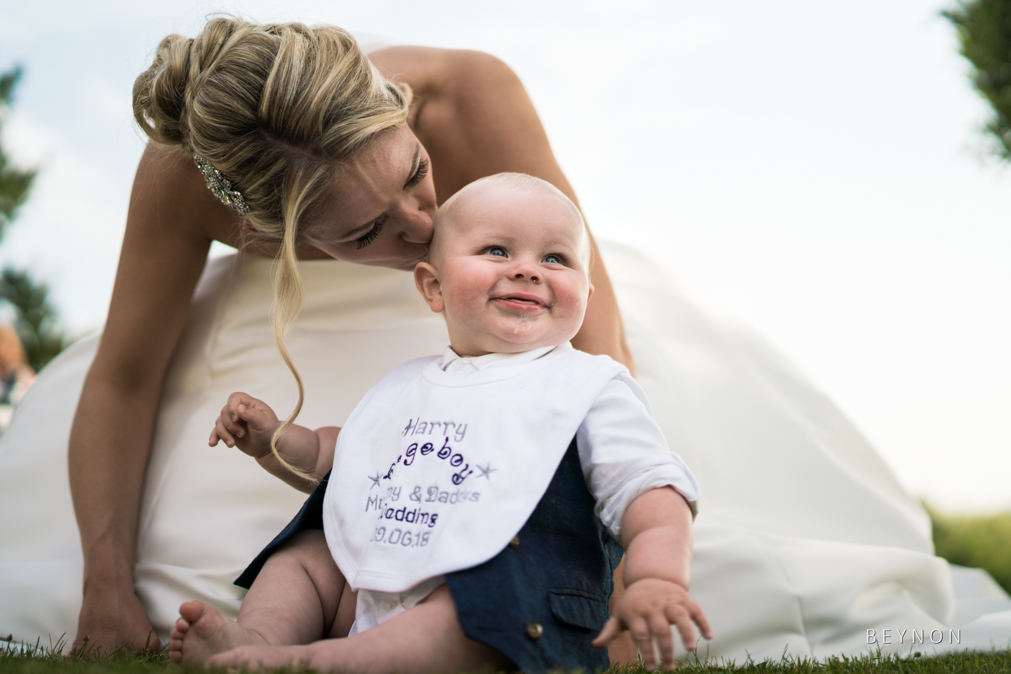 The bride with her son