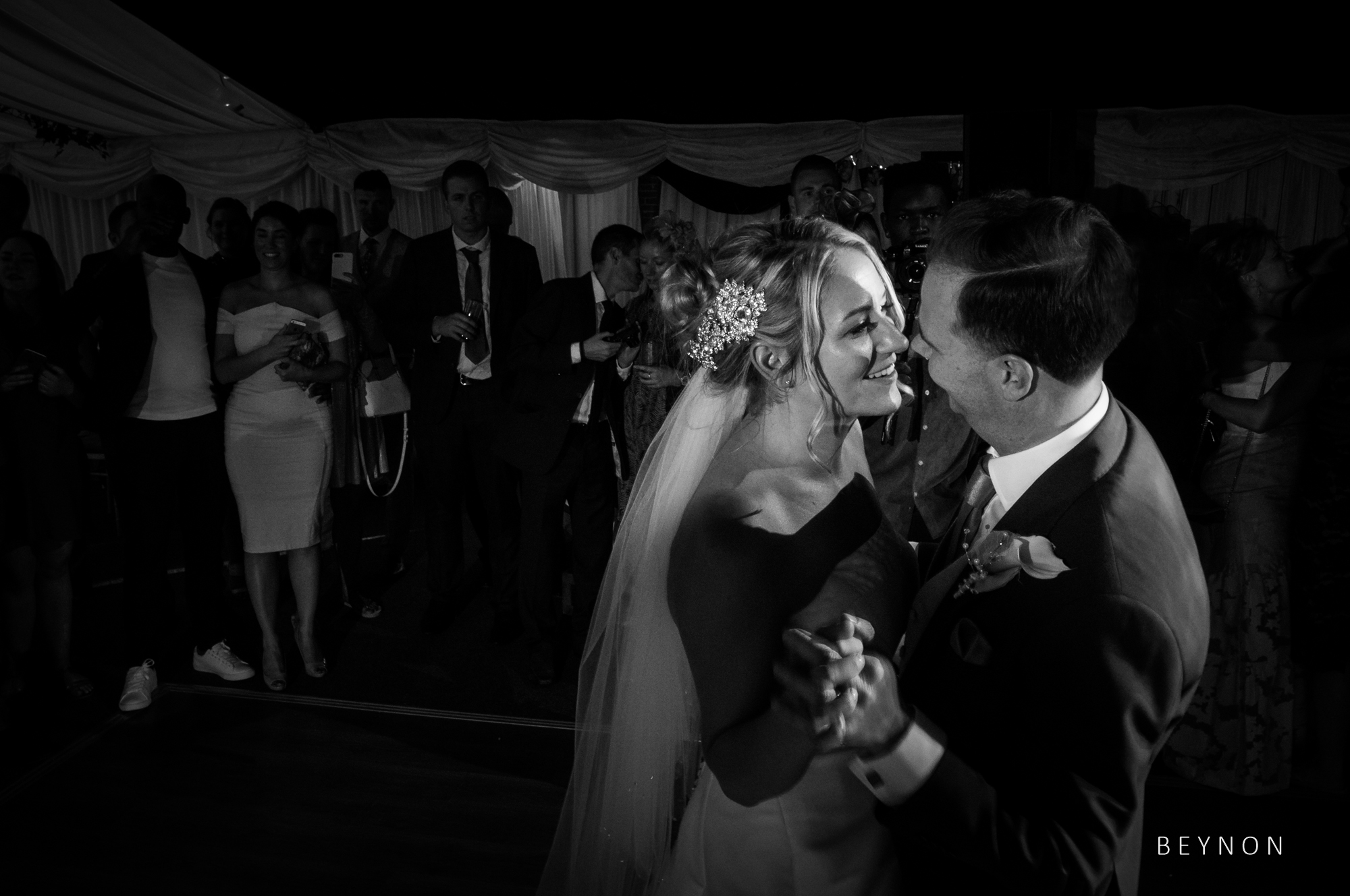 Close up shot during the first dance